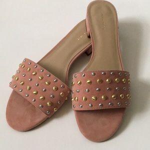 Ann Taylor Suede Studded Paloma Sandal